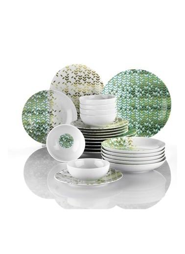 Kütahya Porselen Kütahya Porselen Nano 24 Parça Yemek Seti 885142 Renkli